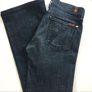 {7 FOR ALL MANKIND} DOJO Dark Wash Flare Jeans 28
